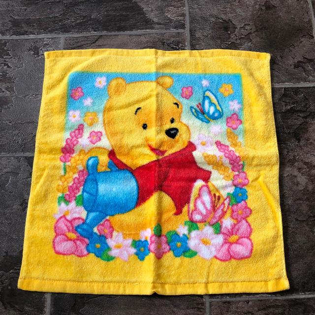 くまのプーさん(クマノプーサン)のハンドタオル 第一生命 ディズニー くまのプーさん 黄色 エンタメ/ホビーのアニメグッズ(タオル)の商品写真