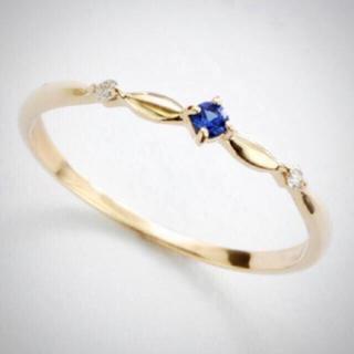 リング★サファイア k10  L&CO 箱 タグ付 ダイヤモンド 重ね付け(リング(指輪))