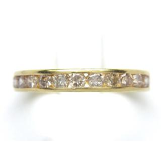 K18 ダイヤモンド 1ct エタニティ リング(リング(指輪))