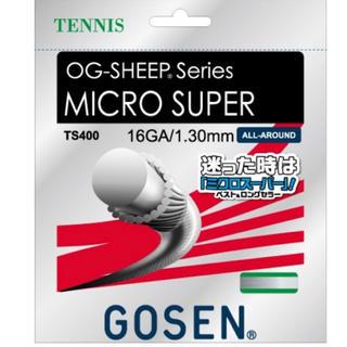 ゴーセン(GOSEN)の12mCUT×2セット定番ナイロンモノガットOGシープミクロスーパー1.30mm(ラケット)