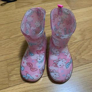 シマムラ(しまむら)の長靴 レインブーツ キッズ キティー 13㎝(長靴/レインシューズ)
