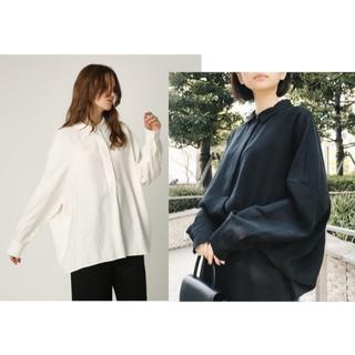ENFOLD - RIM.ARK ドロップショルダーワイドシャツリムアーク 完売ホワイト