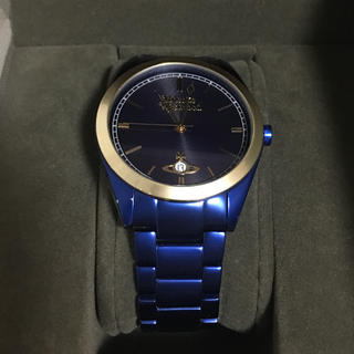 ヴィヴィアンウエストウッド(Vivienne Westwood)の美品 ヴィヴィアンウエストウッド ブルー 腕時計 時計 メンズ 正規品(腕時計(アナログ))