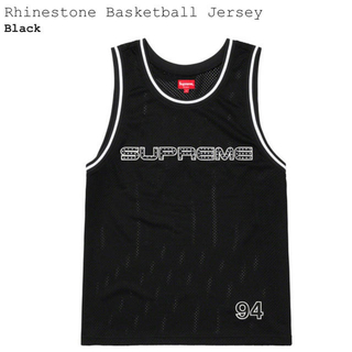 シュプリーム(Supreme)の【S】Supreme Rhinestone Basketball Jersey(タンクトップ)