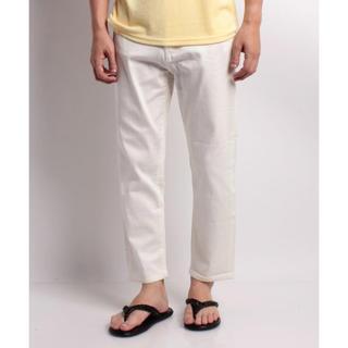 新品 定価8100円 アンクル丈のジーンズ メンズ サイズ40 ホワイト