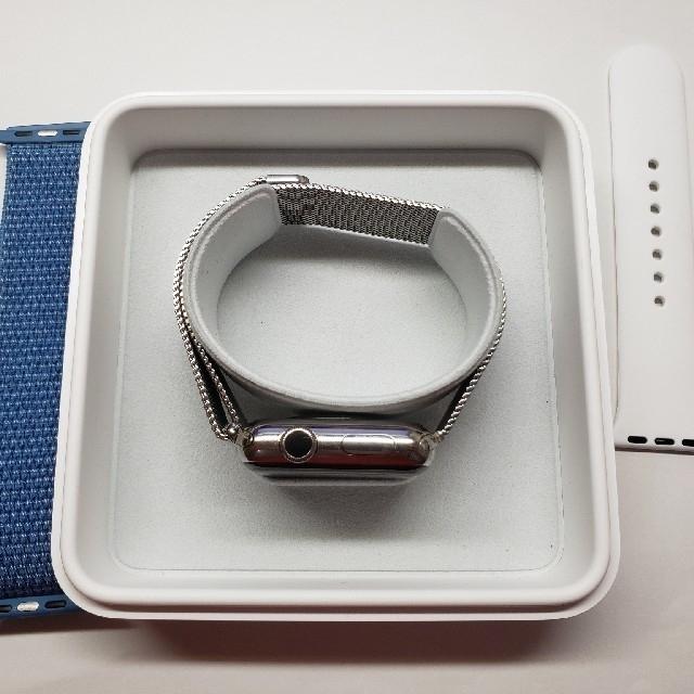 Apple Watch(アップルウォッチ)のApple Watch series 2 ステンレス 純正ミラネーゼループ スマホ/家電/カメラのスマートフォン/携帯電話(その他)の商品写真