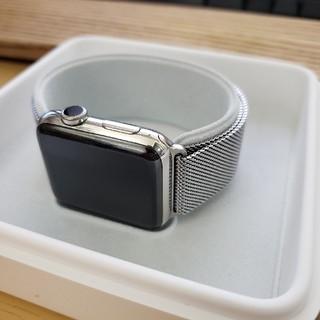 アップルウォッチ(Apple Watch)のApple Watch series 2 ステンレス 純正ミラネーゼループ(その他)