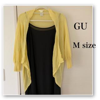 GU - GU♡変形 ボレロ カーディガン♡イエロー♡黄色♡羽織り