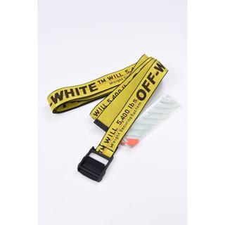 オフホワイト(OFF-WHITE)のOFF-WHITE  インダストリアル ベルト イエロー×ブラック(ベルト)