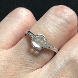 ☆K18WG 天然 スライスダイヤモンド リング 10号(リング(指輪))