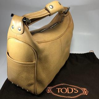 TOD'S - 【美品】トッズ 大きめハンドバッグ ライトブラウン 保存袋付