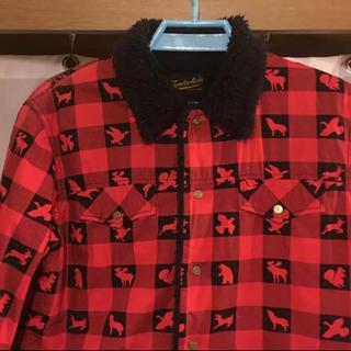 テンダーロイン(TENDERLOIN)のTENDERLOIN ライナーボアアニマルチェックシャツJKT(ブルゾン)