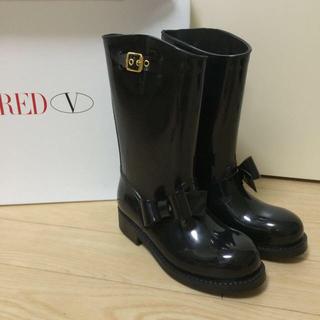 レッドヴァレンティノ(RED VALENTINO)のレッドバレンティノ レインブーツ37(レインブーツ/長靴)