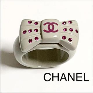 シャネル(CHANEL)のシャネル ココマーク  ラインストーン リング(リング(指輪))