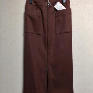Noble - T/Wダブルクロスフープジップタイトスカート