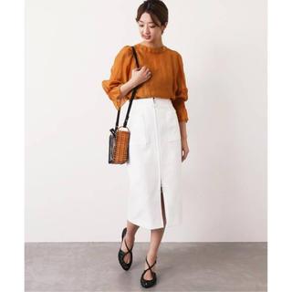 Noble - T/Cダブルクロスフープジップタイトスカート 新品タグ付き