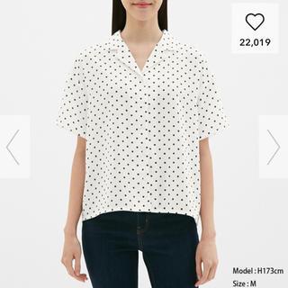 ジーユー(GU)のGU ドットオープンカラーシャツ(シャツ/ブラウス(半袖/袖なし))