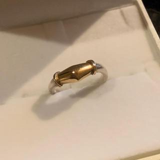 k10ピンクゴールド&シルバー925リング 指輪 10号(リング(指輪))