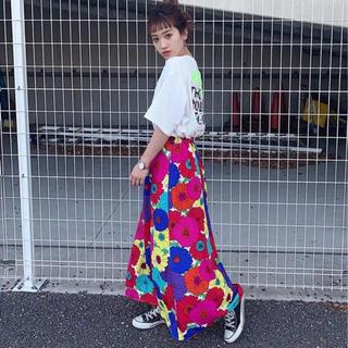 RODEO CROWNS WIDE BOWL - RCWB★0528Flowerスカート★柄ホワイト
