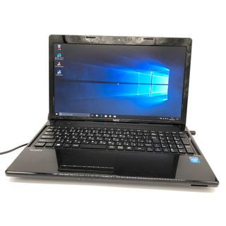 エヌイーシー(NEC)のWindows10 NEC クロスブラック ノートパソコン オフィス(ノートPC)