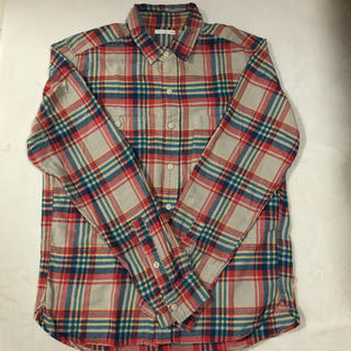 【used】ユニクロ チェックシャツ ネルシャツ
