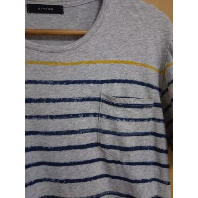 RAGEBLUE(レイジブルー)の【美品】ラージブルー メンズ Tシャツ   RAGEBLUE  ボーダー メンズのトップス(Tシャツ/カットソー(半袖/袖なし))の商品写真