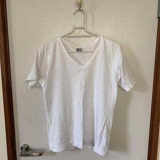 フォーティーファイブアールピーエム(45rpm)の【美品】45rpm Vネック コットン Tシャツ(Tシャツ(半袖/袖なし))