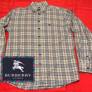 BURBERRY - 美品 made in united kingdom 刺繍ロゴ beige