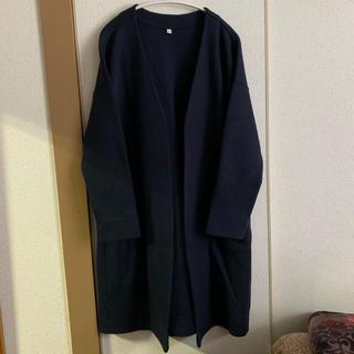 MUJI (無印良品) - 無印良品 コート/ジャケット ネイビー 美品