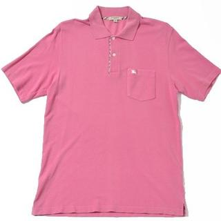 バーバリー(BURBERRY)の◆BURBERRY LONDON◆sizeS poloshirt pink(ポロシャツ)