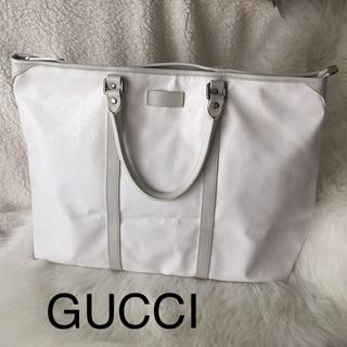 グッチ(Gucci)のGUCCI ホワイト ボストンバッグ(ボストンバッグ)