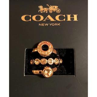 コーチ(COACH)の今週・値下げ中☆コーチ お洒落な3連リング 新品(リング(指輪))