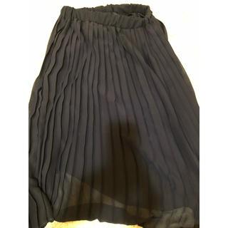 アーバンリサーチ(URBAN RESEARCH)のアーバンリサーチ プリーツスカート 紺 ネイビー(ひざ丈スカート)