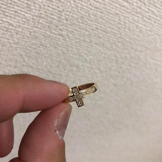 スタージュエリー(STAR JEWELRY)の最終値下げ sjx 18KYG ダイヤクロスリング(リング(指輪))