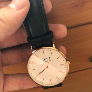 ダニエルウェリントン(Daniel Wellington)のダニエルウェリントン メンズ 40mm ブラック ピンクゴールド(腕時計(アナログ))