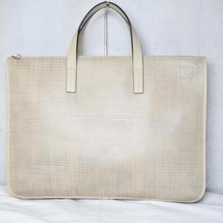 ロエベ(LOEWE)のロエベ ビジネスバッグ ブリーフ グレージュ メンズ バッグ 中古 美品 正規(ビジネスバッグ)