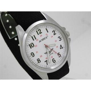 アヴィレックス(AVIREX)のAVIREX ミリタリーウォッチ スクリューバック 蛍光針 NATOベルト(腕時計(アナログ))