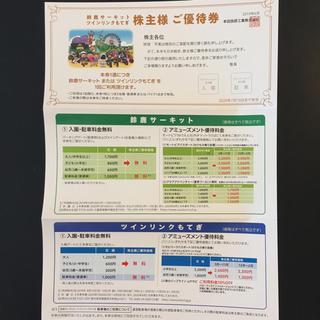 ホンダ(ホンダ)の鈴鹿サーキット ツインリンクもてぎ 株主優待券(遊園地/テーマパーク)