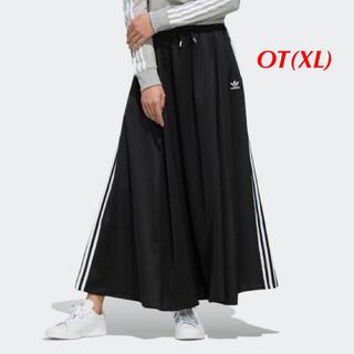 アディダス(adidas)の【レディースOT(XL)】黒   ロングスカート(ロングスカート)