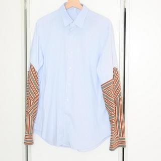 ロエベ(LOEWE)のLOEWE ロエベ 18AW 袖切り替え シャツ ストライプ メンズ ブルー (シャツ)