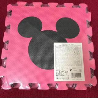 ディズニー(Disney)のディズニー ジョイントマット ミッキー ピンク ブラック(フロアマット)