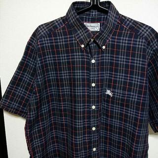 【美品】90s BURBERRY バーバリー ノバチェック 半袖 シャツ