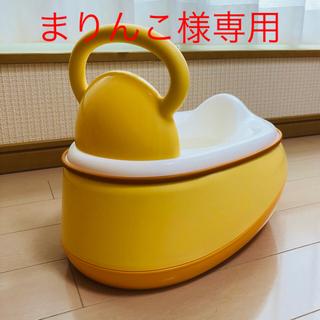 ニシマツヤ(西松屋)の永和 3WAYおまる オレンジ(ベビーおまる)