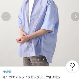 HARE - ストライプ切り替えシャツ HARE