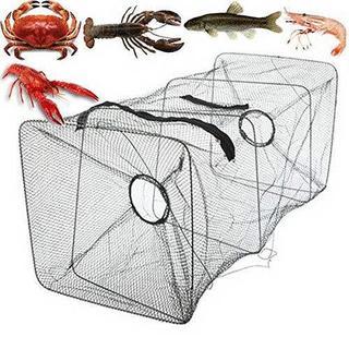 漁具 魚捕り網 仕掛け 折り畳み式 軽量 緑 //b0a