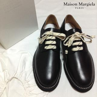 マルタンマルジェラ(Maison Martin Margiela)の新品■44■マルジェラ■17ss■ダービーシューズ■黒■4134(ドレス/ビジネス)
