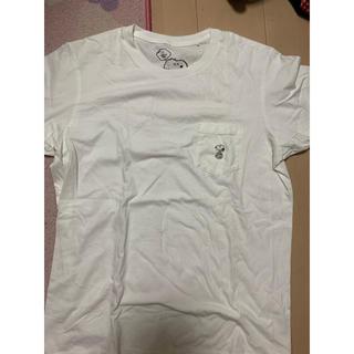 アベイシングエイプ(A BATHING APE)の激レアLサイズ!KAWS×UNIQLO×PEANUTS SNOOPY刺繍Tシャツ(Tシャツ/カットソー(半袖/袖なし))