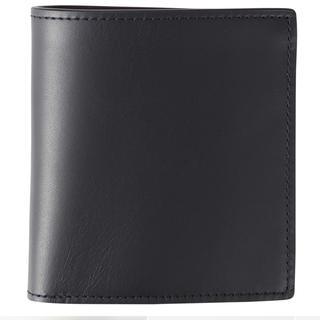 ムジルシリョウヒン(MUJI (無印良品))の無印 イタリア産ヌメ革二つ折り財布 ネイビー(折り財布)