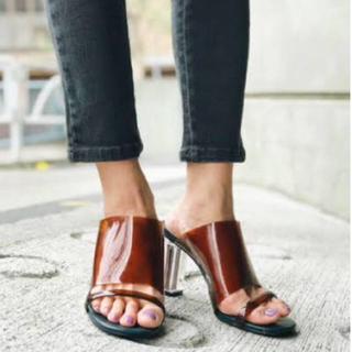 スライ(SLY)の新品未使用 sly clear heel sandal(サンダル)
