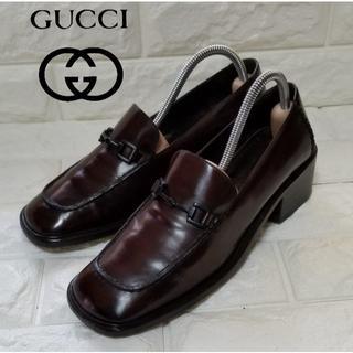グッチ(Gucci)の【GUCCI】ビットローファーsize6 1/2 (Jpn23.5cm)濃茶(ローファー/革靴)